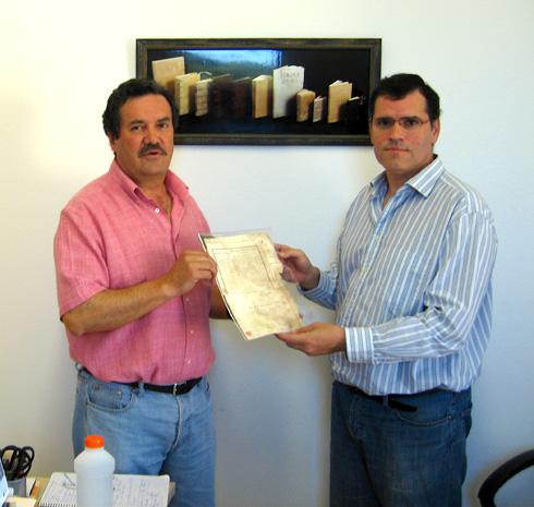 Cesión documento Lamare a Biblioteca de Extremadura