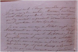 Carta de Philippon comunicando a Soult cambiar el nombre de la luneta Mont Coeur por Werlé. Archivo 4 Gatos
