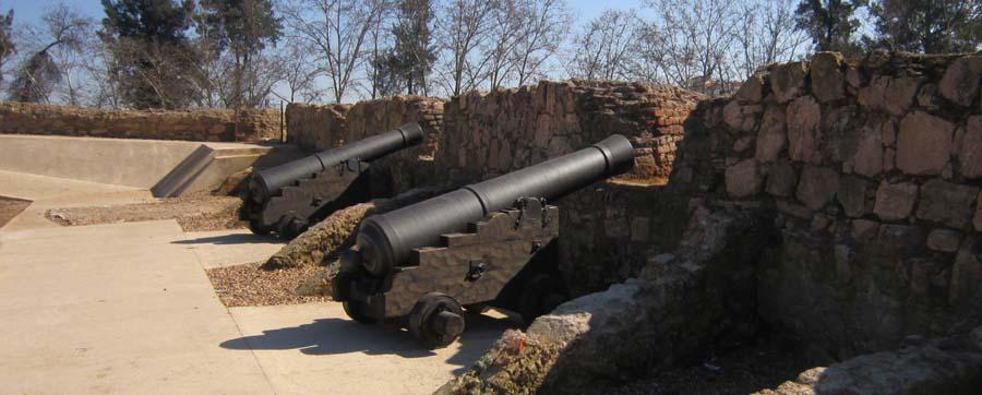 Replicas de cañones en Baluarte de San Pedro de Badajoz