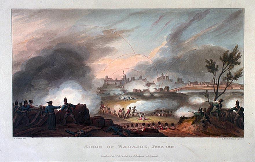 Asedio de Badajoz en 1811.
