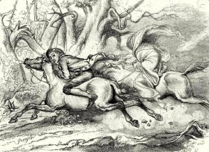 DARLEY, F.O.C. Ichabod pursued by the Headless Horseman (1849)