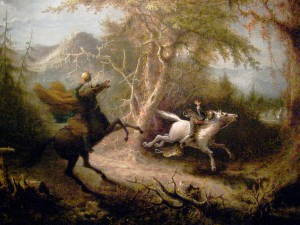 QUIDOR, John. The Headless Horseman Pursuing Ichabod Crane (1858)