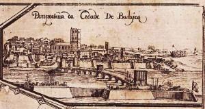 Vista de Badajoz durante el asedio de 1658