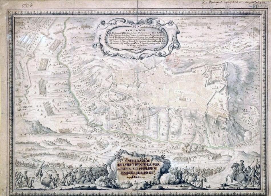Castel da vide sitiada y rendida por el Rey N. S. D. Phelipe V en 25 de junio de 1704