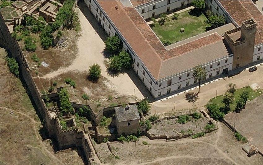 El área de las casas antes de su rehabilitación