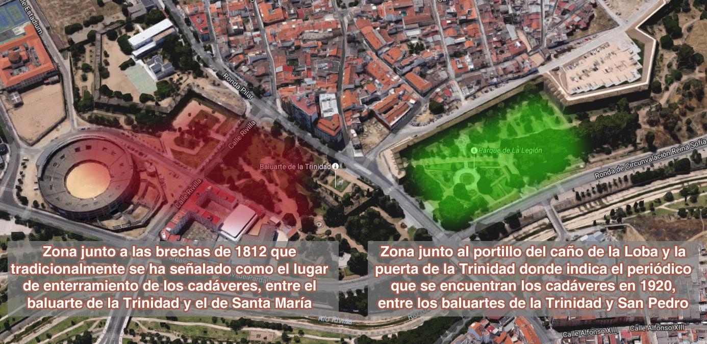 Localización de las dos zonas que aparecen en la microhistoria
