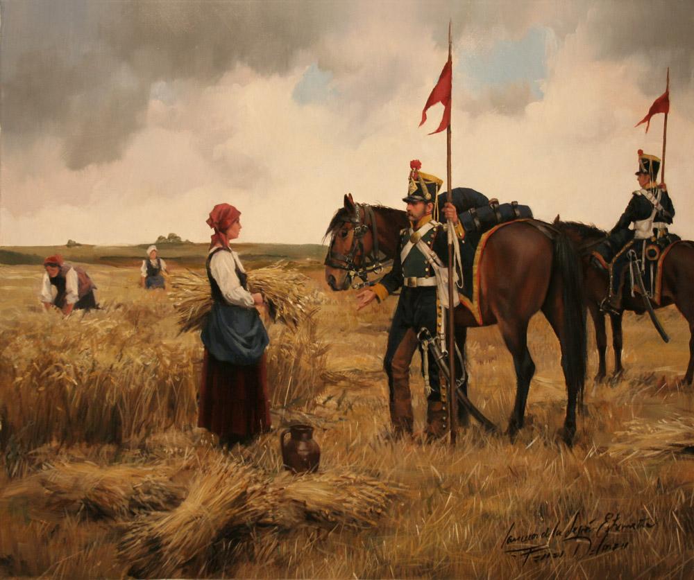 """""""Lanceros de la Legión Extremeña"""" óleo de Augusto Ferrer Dalmau (2010)"""