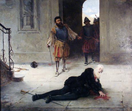 """""""El asesinato de Pizarro"""" de Graciano Mendilaharzu (1886)"""
