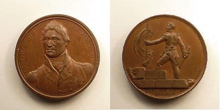 Moneda acuñada para conmemorar la gesta del teniente general Picton.