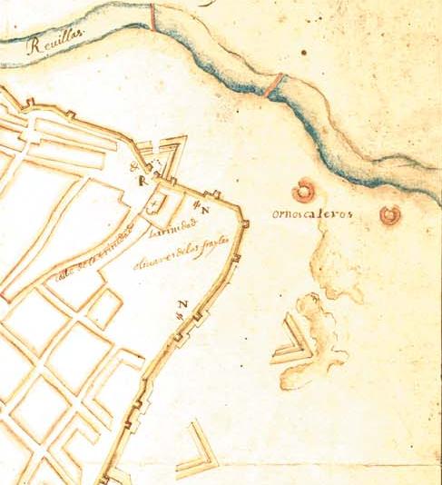Detalle de Badajoz 1645
