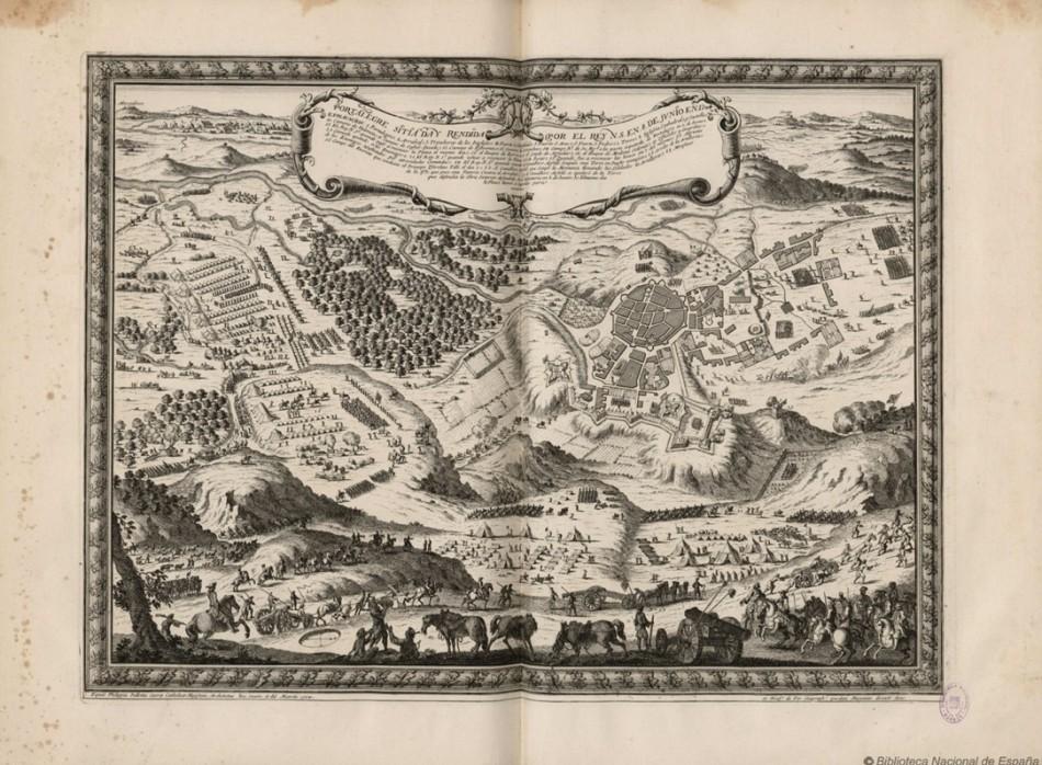 Portalegre sitiada y rendida por el Rey N.S. en 8 de junio en 1704.